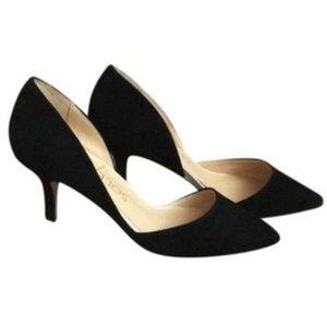 Sole Society Jenn D'orsay black pumps heels suede